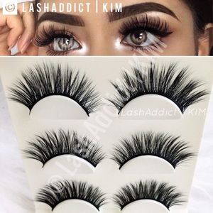 Long Mink Lashes Eyelashes Makeup 3D Lilly Fur New